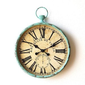 掛け時計 壁掛け時計 アンティーク レトロ 大きい シャビー インテリア ウォールクロック 海 コンパス アンティークな掛け時計 マリン|gigiliving