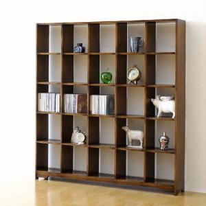 ディスプレイラック 飾り棚 CDラック オープンシェルフ 木製 オークディスプレイラックL|gigiliving