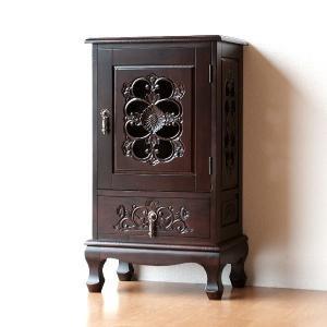 アンティーク 家具 キャビネット リビングボード サイドボード 棚 電話台 完成品 アンティークなキャビネット|gigiliving