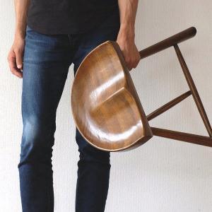 スツール おしゃれ 木製 椅子 いす イス 玄関 ウッドチェア 無垢材 オーク鞍型スツール45|gigiliving