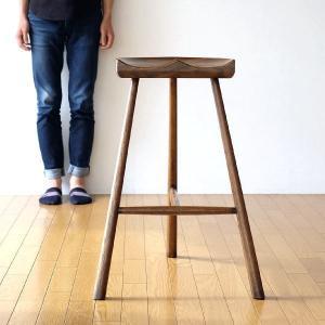 ハイスツール 木製 おしゃれ 椅子 カウンターチェア カウンターチェアー カウンタースツール オーク鞍型スツール70|gigiliving