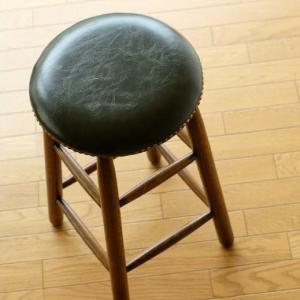 ハイスツール 木製 スツール 丸椅子 丸イス おしゃれ カウンターチェア カウンタースツール アンティーク レトロ オークハイスツール|gigiliving