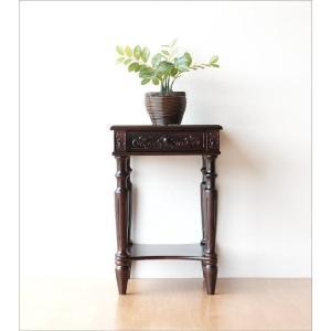 アンティーク 家具 サイドテーブル サイドチェスト 電話台 FAX台 完成品 アンティークな花台 gigiliving 05