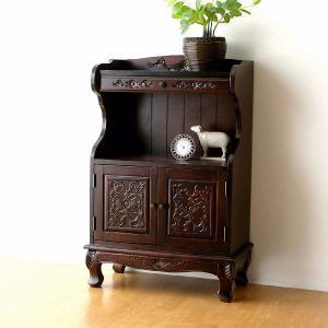 アンティーク 家具 飾り棚 飾棚 ラック キャビネット 収納棚 猫脚 完成品 アンティークなドアーチェスト|gigiliving