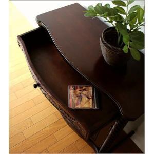 アンティーク 家具 サイドボード 収納家具 電話台 FAX台 猫脚 完成品 アンティークなキャビネット ツイスト|gigiliving|05