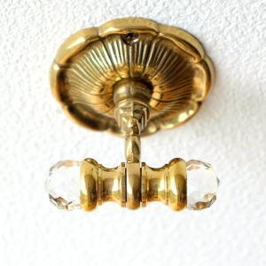 フック 壁 真鍮 壁掛けフック おしゃれ アンティーク ゴールド エレガント クラシック 真鍮の壁掛フック|gigiliving