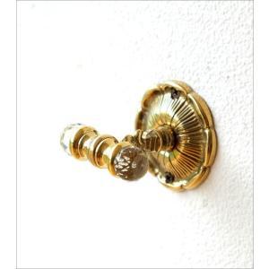 フック 壁 真鍮 壁掛けフック おしゃれ アンティーク ゴールド エレガント クラシック 真鍮の壁掛フック|gigiliving|02