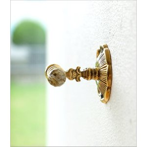 フック 壁 真鍮 壁掛けフック おしゃれ アンティーク ゴールド エレガント クラシック 真鍮の壁掛フック|gigiliving|04