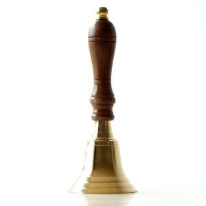 ハンドベル 呼び鈴 コールベル カウンターベル 卓上ベル 真鍮 木製 呼び出し 玄関 エントランス ブラスハンドベル