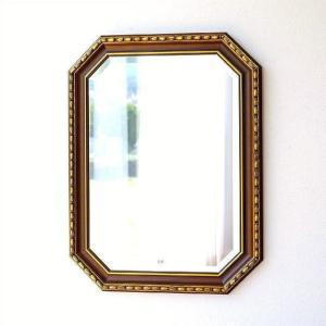 鏡 壁掛けミラー アンティーク イタリア製 ゴールド 八角 ウォールミラー クラシック ヨーロピアン 玄関 リビング イタリアンミラー アンティークゴールド|gigiliving