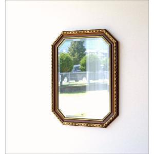 鏡 壁掛けミラー アンティーク イタリア製 ゴールド 八角 ウォールミラー クラシック ヨーロピアン 玄関 リビング イタリアンミラー アンティークゴールド|gigiliving|02