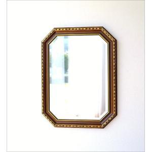 鏡 壁掛けミラー アンティーク イタリア製 ゴールド 八角 ウォールミラー クラシック ヨーロピアン 玄関 リビング イタリアンミラー アンティークゴールド|gigiliving|06