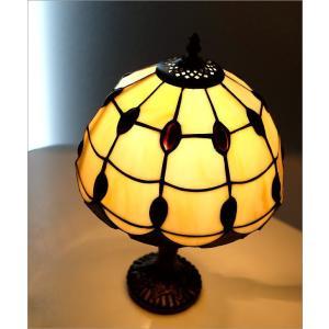 ステンドグラス ランプ 照明 ランプスタンド テーブルランプ アンティーク 大正ロマン おしゃれ ベッドサイドランプ ステンドグラステーブルランプ C|gigiliving|02