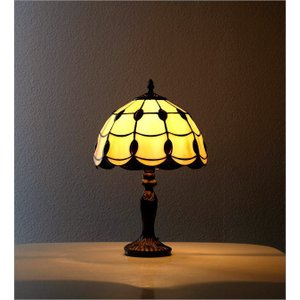 ステンドグラス ランプ 照明 ランプスタンド テーブルランプ アンティーク 大正ロマン おしゃれ ベッドサイドランプ ステンドグラステーブルランプ C|gigiliving|03