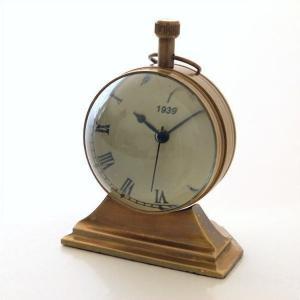 置時計 置き時計 アンティーク レトロ おしゃれ スタンドクロック クラシック ヴィンテージ アナログ ローマ数字 ゴールド 真鍮のテーブルクロック C|gigiliving