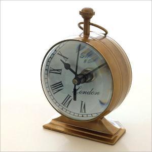 置時計 置き時計 アンティーク レトロ おしゃれ スタンドクロック クラシック ヴィンテージ アナログ ローマ数字 ゴールド 真鍮のテーブルクロック D