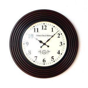 壁掛け時計 掛け時計 掛時計 壁掛時計 おしゃれ アンティーク レトロ クラシック ヨーロピアン 北欧 カフェ インテリア ウォールクロック ウッディーラインB|gigiliving