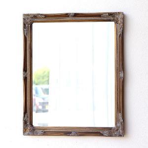 鏡 壁掛けミラー アンティークゴールド レトロ ウォールミラー おしゃれ ヨーロピアン アンティーク風 洋風 リビング 玄関 クラシックなウォールミラーGD|gigiliving