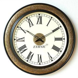 壁掛け時計 掛け時計 掛時計 壁掛時計 おしゃれ アンティーク 大きい 真鍮飾りのビックウォールクロック|gigiliving