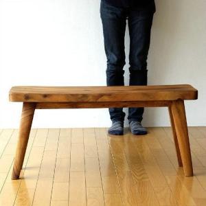木製ベンチ 長椅子 背もたれなし リビング インテリア デザイン 無垢材 シンプル おしゃれ ウッドベンチ カーブ|gigiliving