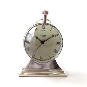 置き時計 置時計 おしゃれ アナログ アンティーク クラシック レトロ 真鍮のテーブルクロック F|gigiliving