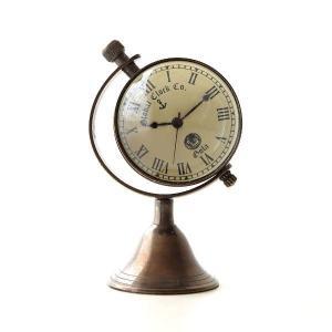 置き時計 置時計 おしゃれ アナログ アンティーク クラシック レトロ 真鍮のテーブルクロック E|gigiliving