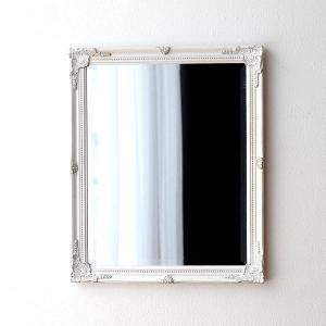 ウォールミラー ホワイト 白 壁掛けミラー 鏡 壁掛け アンティーク エレガント ヨーロピアン クラシックなウォールミラーWH|gigiliving