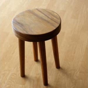 スツール 木製 丸椅子 いす アジアン ウッドスツール サークル|gigiliving