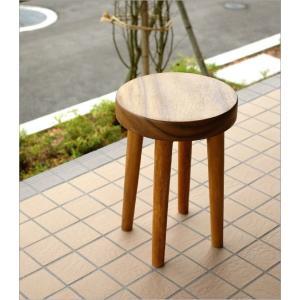 スツール 木製 丸椅子 いす アジアン ウッドスツール サークル|gigiliving|02