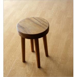 スツール 木製 丸椅子 いす アジアン ウッドスツール サークル|gigiliving|03
