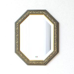 八角形 鏡 ミラー 玄関 壁掛け イタリア製 ウォールミラー おしゃれ クラシック ヨーロピアン アンティーク エレガント 八角ウォールミラー|gigiliving