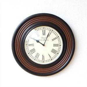 壁掛け時計 壁掛時計 掛け時計 掛時計 木製 ウッド 丸 ラウンド デザイン ローマ数字 木 おしゃれ シンプル アンティーク ウォールクロック ウッディーライン|gigiliving