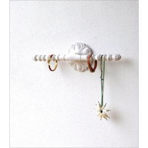 ウォールハンガー アクセサリーハンガー 壁掛け 収納 ウォールバー おしゃれ かわいい 白 ロココ調 レトロ アンティーク アクセサリーウォールハンガー|gigiliving|02