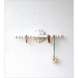 ウォールハンガー アクセサリーハンガー 壁掛け 収納 ウォールバー おしゃれ かわいい 白 ロココ調 レトロ アンティーク アクセサリーウォールハンガー|gigiliving|05