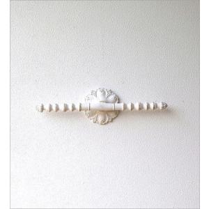 ウォールハンガー アクセサリーハンガー 壁掛け 収納 ウォールバー おしゃれ かわいい 白 ロココ調 レトロ アンティーク アクセサリーウォールハンガー|gigiliving|06