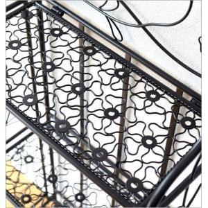 シェルフ 棚 アイアン 3段 折りたたみ フラワーラック ガーデン 花台 おしゃれ ディスプレイラック 飾り棚 飾棚 スリム アイアンの折りたたみフラワーシェルフ|gigiliving|05