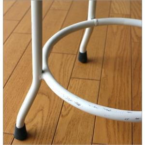 ハイスツール 木製 アイアン 椅子 カウンターチェア レトロ 高さ70cm ホワイトアイアンとウッドのスツール L|gigiliving|04