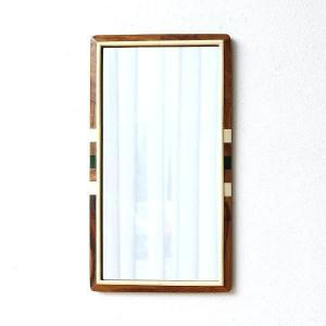 鏡 壁掛けミラー おしゃれ モダン アンティーク 北欧 木製 天然木 角型 縦長 横長 長方形 シーシャムウッドウォールミラー|gigiliving