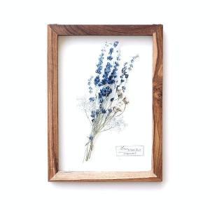 アートフレーム ナチュラル おしゃれ アートパネル モダン インテリア 壁飾り 植物 グリーン ガラス 木製 ウォールデコ フラワープリントのガラスフレームB|gigiliving