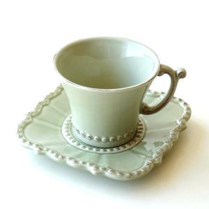 カップ&ソーサー おしゃれ 陶器 コーヒーカップ お皿 プレート セット 洋食器 ティーカップ バーレスクC&S OL|gigiliving