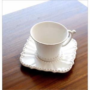カップ&ソーサー おしゃれ 陶器 コーヒーカップ お皿 プレート セット 洋食器 ティーカップ バーレスクC&S WH|gigiliving|02
