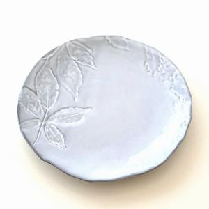 お皿 プレート 陶器 おしゃれ かわいい 可愛い シンプル 洋食器 ハーバリウムプレート リーフ|gigiliving