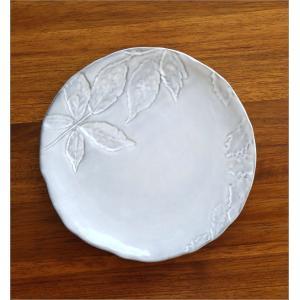 お皿 プレート 陶器 おしゃれ かわいい 可愛い シンプル 洋食器 ハーバリウムプレート リーフ|gigiliving|03