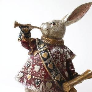ウサギ うさぎ 置物 置き物 かわいい アンティーク 雑貨 インテリアオブジェ レトロなバロックラビット|gigiliving