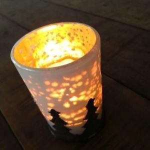 キャンドルホルダー ガラス キャンドルスタンド モミの木のキャンドルカップ 2タイプ|gigiliving