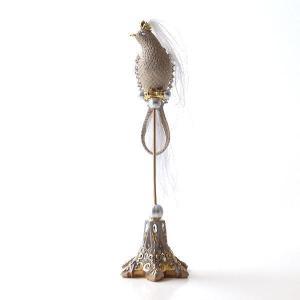 鳥 オブジェ 置物 おしゃれ エレガント かわいい インテリア 雑貨 バロックバードの置物|gigiliving