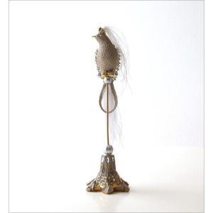 鳥 オブジェ 置物 おしゃれ エレガント かわいい インテリア 雑貨 バロックバードの置物|gigiliving|02