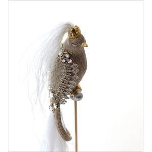 鳥 オブジェ 置物 おしゃれ エレガント かわいい インテリア 雑貨 バロックバードの置物|gigiliving|03