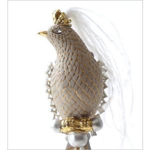 鳥 オブジェ 置物 おしゃれ エレガント かわいい インテリア 雑貨 バロックバードの置物|gigiliving|05