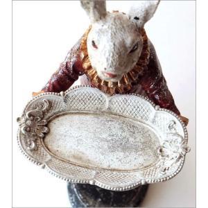 アクセサリートレイ うさぎ ウサギ 置物 置き物 雑貨 オブジェ 小物入れ アンティーク トレー レトロラビットの置物 トレイ gigiliving 03